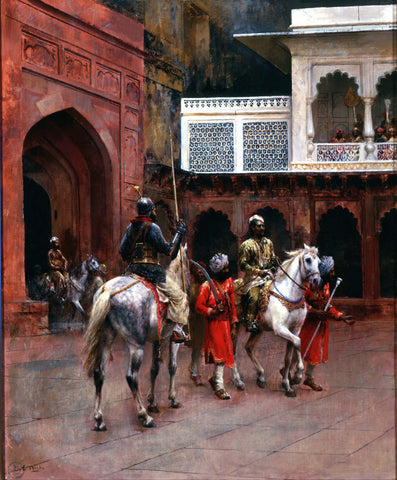 Indian Prince, Palace of Agra - Canvas Prints