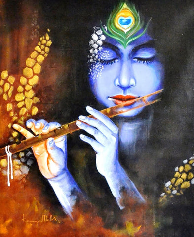 Indian Art - Contemporary Collection - Acrylic Painting - Muralimanohar