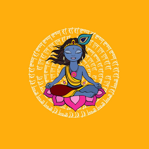 Indian Art - Digital Painting - Krishna Meditating