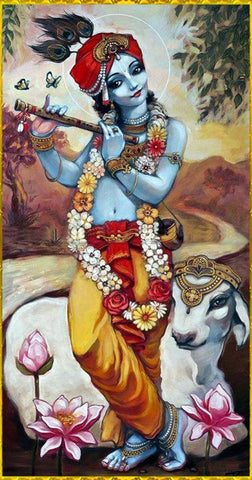 Indian Art - Acrylic Painting - Murlaidhar Krishna