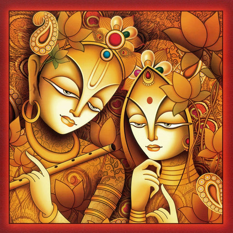 Indian Art - Acrylic Painting - Radha Krishna