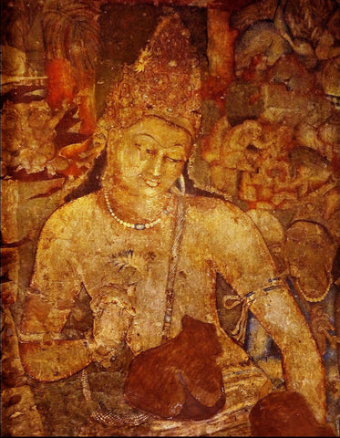 Ajanta Cave Art - Padmapani by Anonymous Artist