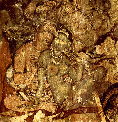 Ajanta Cave Art by Anonymous Artist