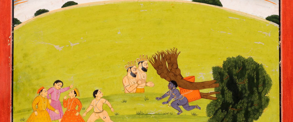 Krishna Uprooting the Tree c. 1750 by Anonymous Artist | Buy Posters, Frames, Canvas  & Digital Art Prints