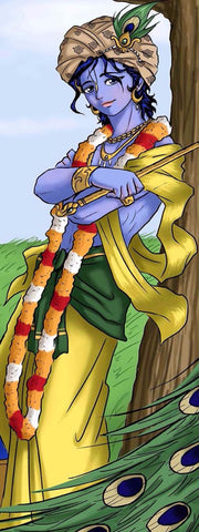Indian Art - Digital Painting - Youthful Krishna