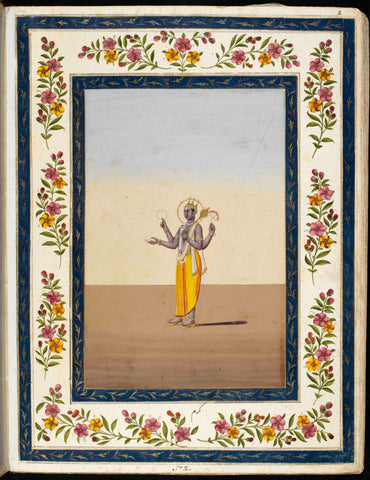 Indian Miniature Art - Four Armed Karma