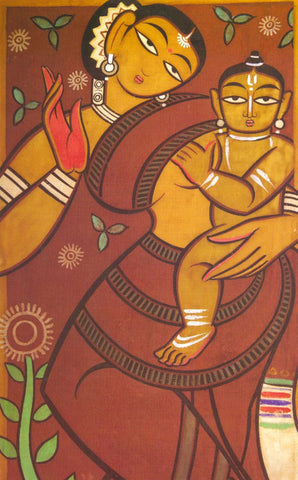 Mother and Child by Jamini Roy