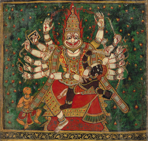 Narasimha Killing Hiranyakashyap by Anonymous Artist