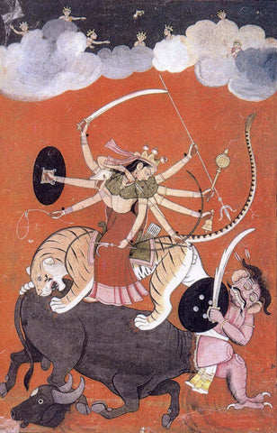 Pahari Styled Mother Goddess c1750 by Anonymous Artist
