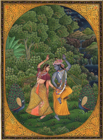 Indian Art  Radha Krishna Dancing
