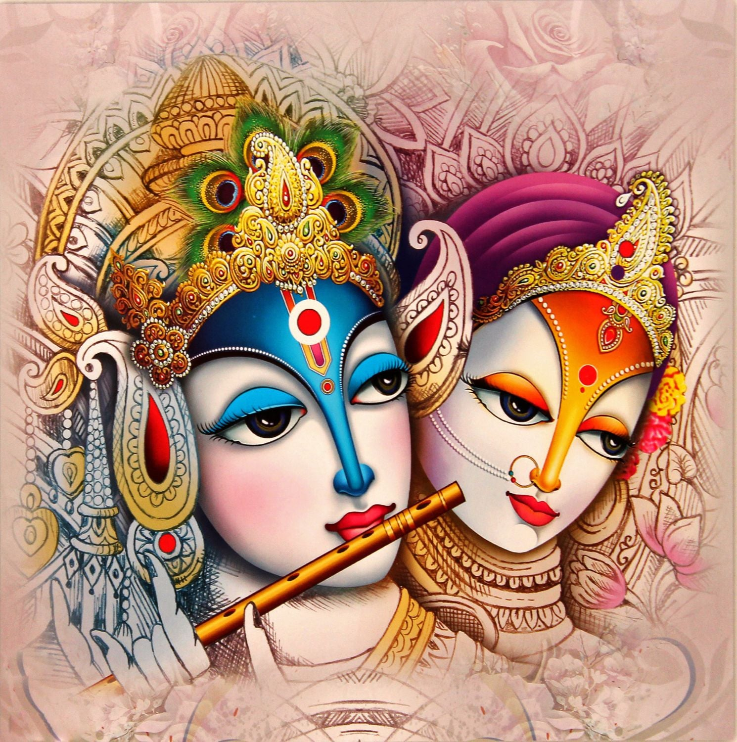 indian art radha krishna painting 3 by raghuraman buy posters