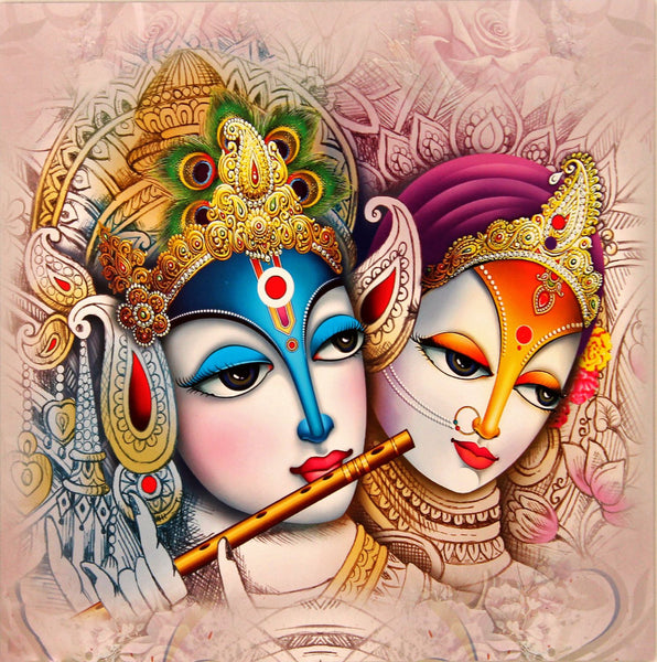 Indian Art - Radha Krishna Painting 3 - Life Size Posters