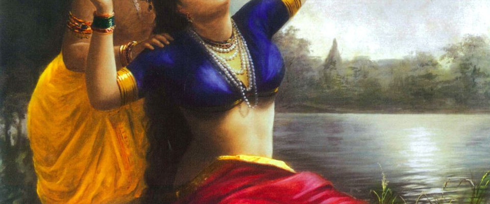 Radha Bilas by Raja Ravi Varma | Buy Posters, Frames, Canvas  & Digital Art Prints