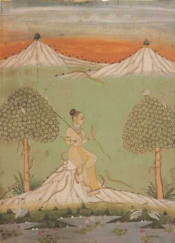 Indian Miniature Art - Pahari Style - Asavari Ragini