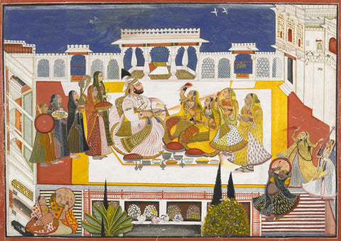 Celebrating Holi In The Zenana by Anonymous Artist