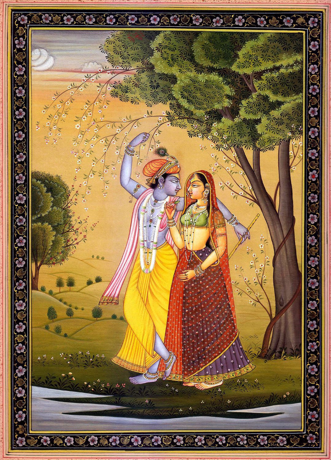 Radha Krishna in Forest - Canvas Prints by Anonymous Artist | Buy ...