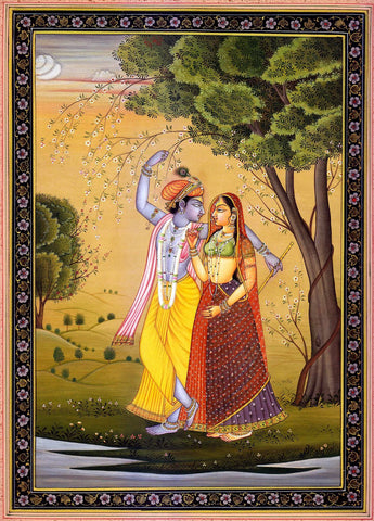 Radha Krishna in Forest by Anonymous Artist