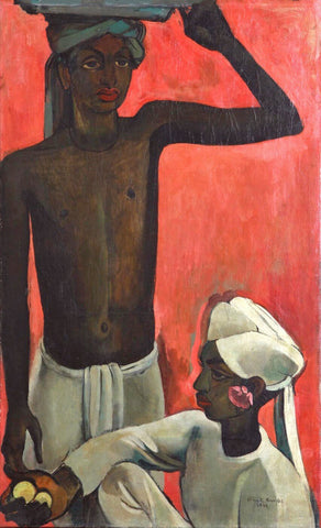 Indian Masters - Amrita Sher-Gil - Boy With Lemons by Amrita Sher-Gil