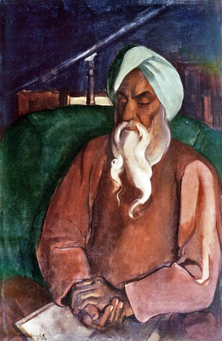 Indian Masters - Amrita Sher-Gil - Portrait Of Father by Amrita Sher-Gil