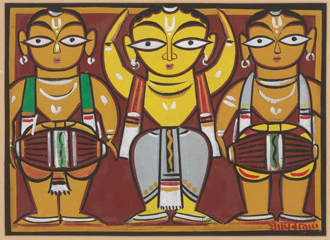 Jamini Roy - Dancer With Drummers
