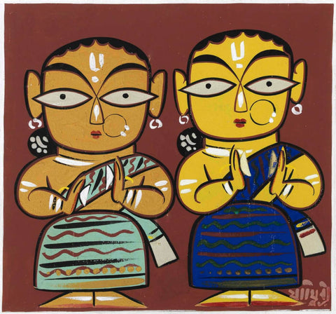 Indian Masters - Jamini Roy - Two Women