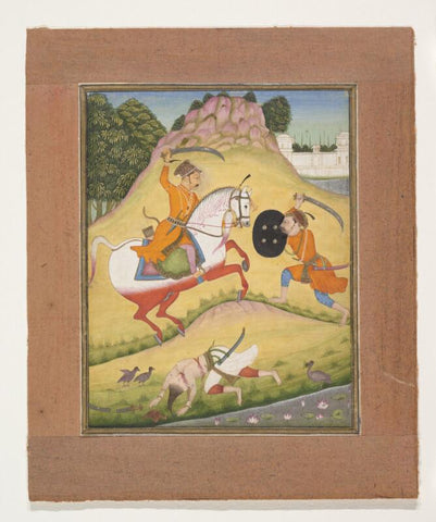 Indian Miniature Art - Nata Ragina Folio from a ragamala series (Garland of Musical Modes) - Rajasthan