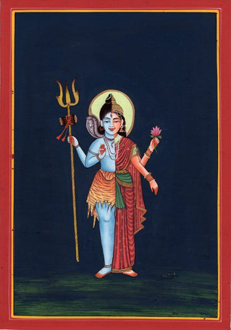 Indian Painting - Shiva as Ardhanarishvara - Shiva Shakti by Jayadeva Sinha