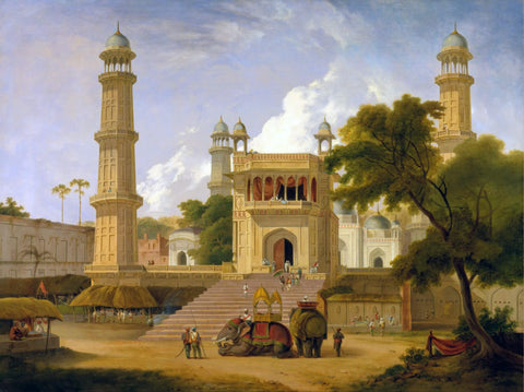Indian Temple Muttra (Mathura) - Thomas Daniell  - Vintage Orientalist Paintings of India by Thomas Daniell