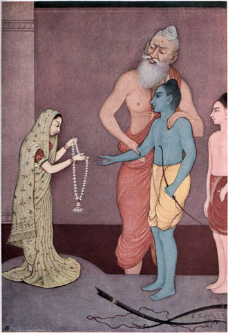 Indian Vintage Art from Ramayan - Sita Swayamvar