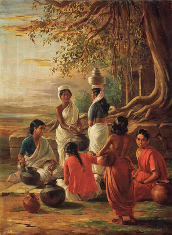 Indian Women At A Well