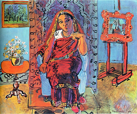 Interior with Indian Woman – Raoul Dufy c1930 - Canvas Prints