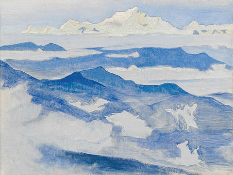 Evening, From The Himalayan- Nicholas Roerich Painting –  Landscape Art by Nicholas Roerich