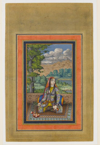 Islamic Miniature - Portrait of a Persian Lady