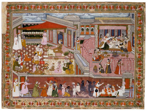 Islamic Miniature - Birth in a Palace by Tallenge Store