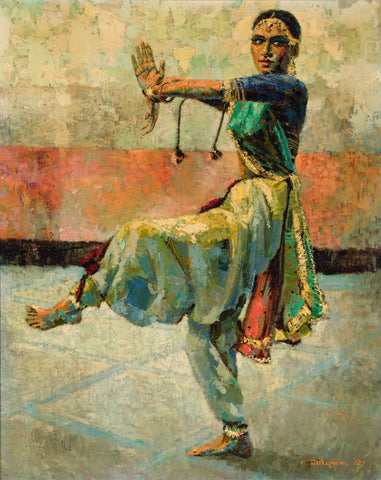 Untitled (Dancing Woman) - Canvas Prints by Ismail Gulgee | Buy Posters, Frames, Canvas & Digital Art Prints | Small, Compact, Medium and Large Variants