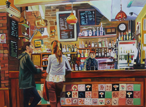 Girl Serving Drinks In The Bar by Deepak Tomar