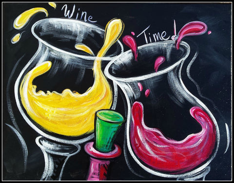 Its Wine Time - Canvas Prints