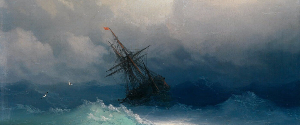 A Ship in a Stormy Sea by Ivan Aivazovsky | Buy Posters, Frames, Canvas  & Digital Art Prints