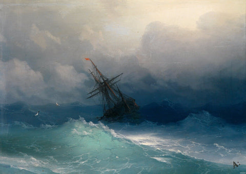 A Ship in a Stormy Sea - Posters