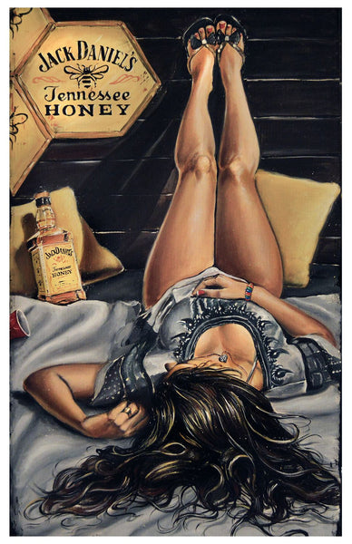 Artwork of Jack Daniel's Lady by Deepak Tomar