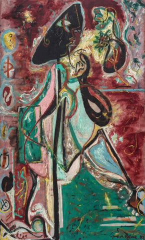 The Moon Woman Version 2 - Jackson Pollock