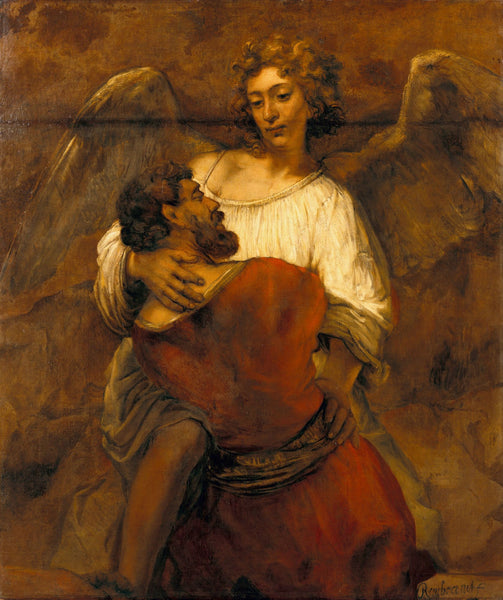 Jacob Wrestling with the Angel by Rembrandt | Tallenge Store | Buy Posters, Framed Prints & Canvas Prints