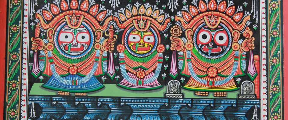 Jagannath Balabhadra Subhadra - Orissa- Indian Painting by Tallenge Store | Buy Posters, Frames, Canvas  & Digital Art Prints