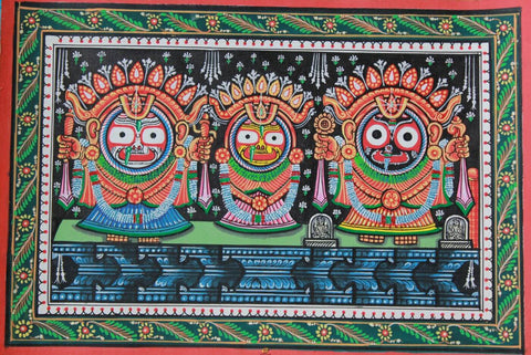 Jagannath Balabhadra Subhadra - Orissa- Indian Painting