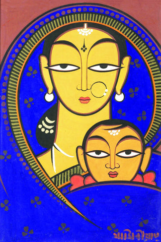 Madonna and Child by Jamini Roy