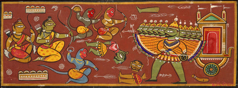Jamini Roy - Battle Between Ram and Ravana