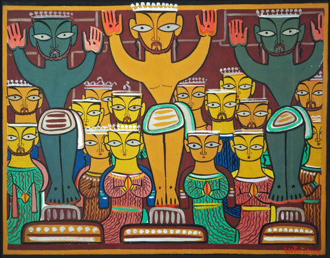 Jamini Roy - Crucifixion by Jamini Roy