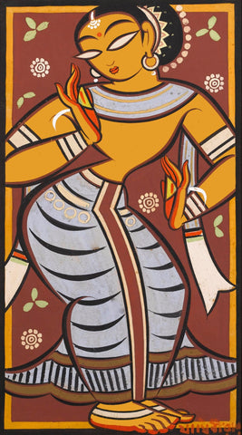 Jamini Roy - Dancing Gopini by Jamini Roy
