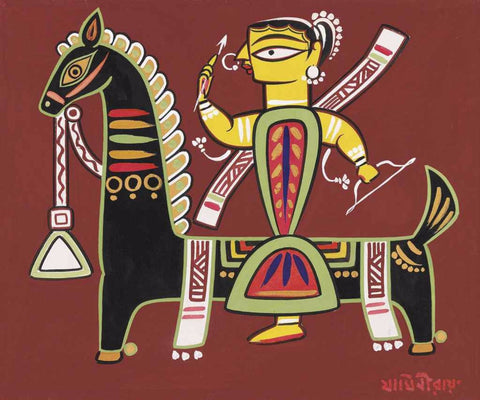 Jamini Roy  - Goddess Durga by Jamini Roy