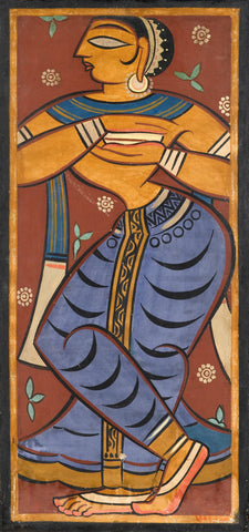 Jamini Roy  - Gopini by Jamini Roy